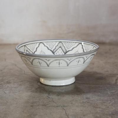 Bowl Marroquí 30,5 cm cerámica gris