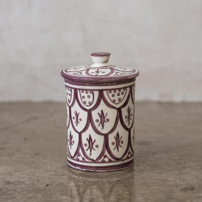 Azucarero Marroquí 8,5 cm cerámica lavanda