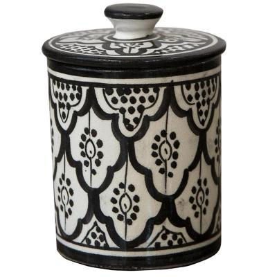 Azucarero Marroquí 8,5 cm cerámica negro