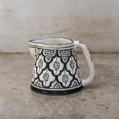Jarro de agua Marroquí 13 cm cerámica negro