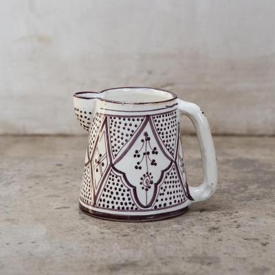 Jarro de agua Marroquí 13 cm cerámica lavanda