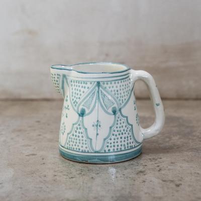 Jarro de agua Marroquí 13 cm cerámica menta