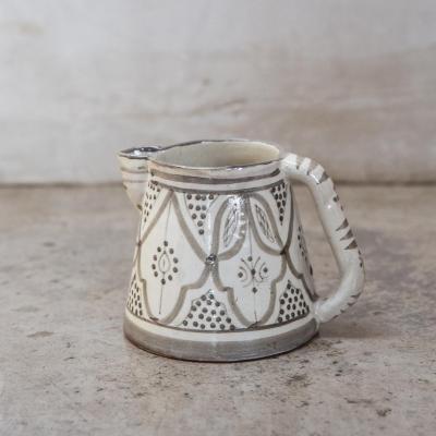 Jarro de agua Marroquí 13 cm cerámica gris