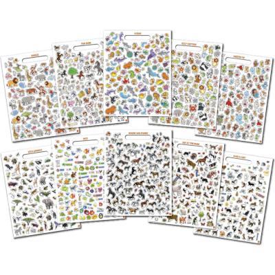Block sticker animal 1000 unidades
