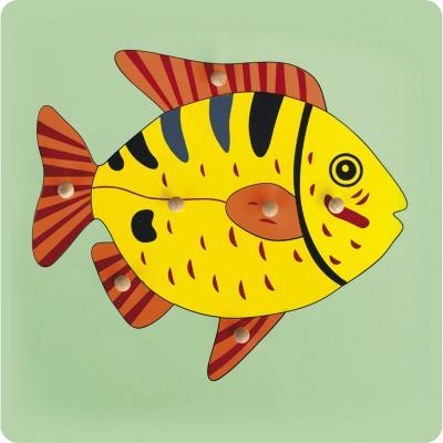 Encaje con mango pez madera
