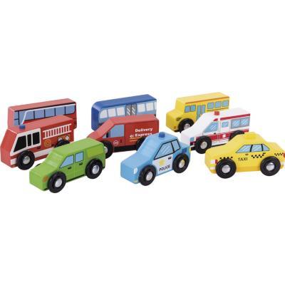 Autos de madera 9 unidades