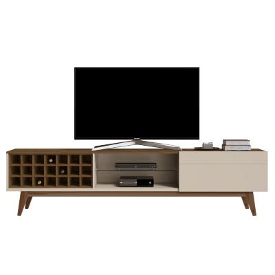 "Rack de TV 60 "" 218x40x52 Blanco/Café"
