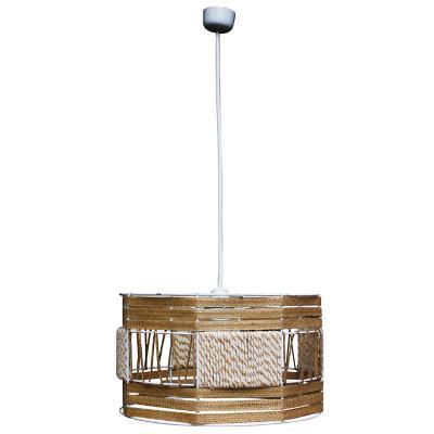 Lámpara colgante tambor betane fibras naturales 1 luz E27