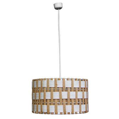 Lámpara colgante tambor geométrico metal 1 luz E27