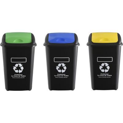 Set 3 basurero eco 30 litros
