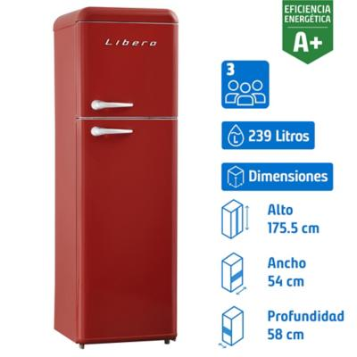 Refrigerador frío directo 239 litros Retro Style