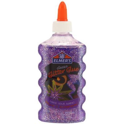 Pegamento glitter glue morado