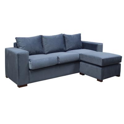Sofá seccional lima azul 188x136x77 cm