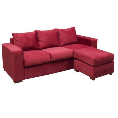 Sofá seccional lima rojo 188x136x77 cm