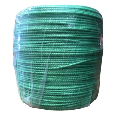 Rollo cuerda polipropileno 4 mm verde