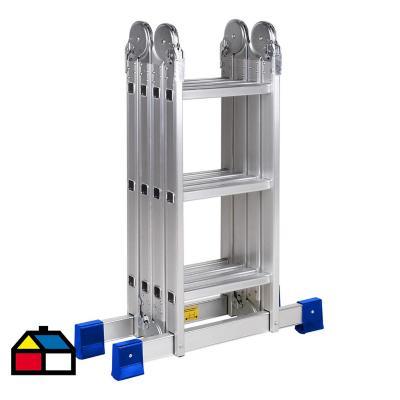 Escala articulada aluminio 12 peldaños  Alto 3,55m. Resistencia 150 Kilos