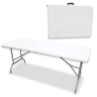 Mesa plegable tipo maleta blanca 180*72*72