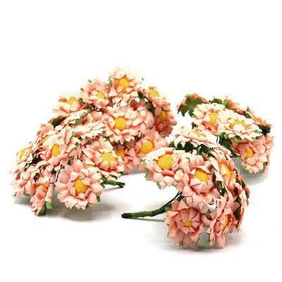 Flor girasol de papel por 144 unidades damasco