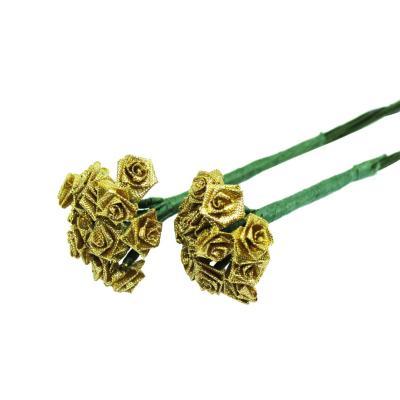 Flor rococó pequeño con tallo 144 unidades dorado