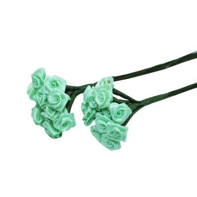 Flor rococó pequeño con tallo 144 unidades verde