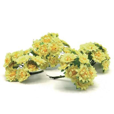 Flor girasol de papel 144 unidades amarillo