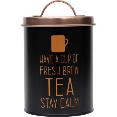 Latón para té con tapa cobre