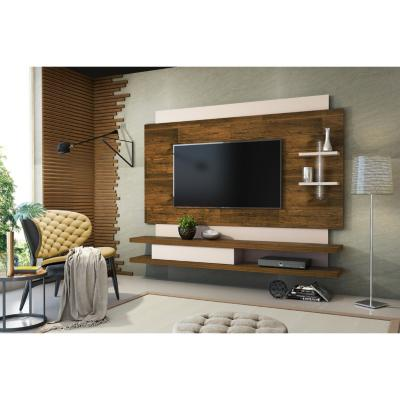 "Panel de TV 65 "" 210x33,4x163,5 Café/blanco"