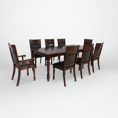 Juego de comedor 6 sillas +  2 sitiales 180x102 Chocolate