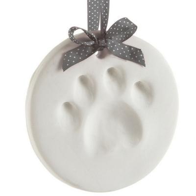 Recuerdo marcador huellas mascotas colgante