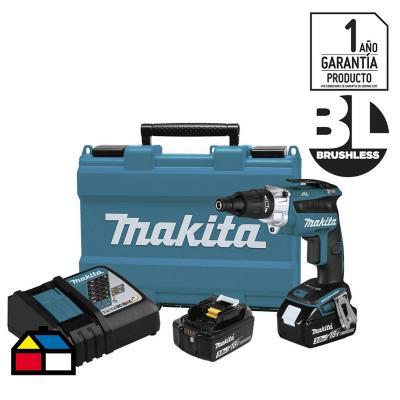Atornillador inalámbrico 6 mm 18 V + 2 baterías