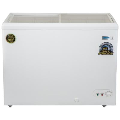 Freezer horizontal 350 litros tapa de vidrio