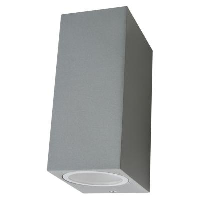 Aplique hexos  bidirecc alum gris  ip44 gu10 s/a
