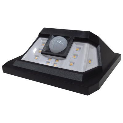 Aplique de muro led solar con sensor Negro