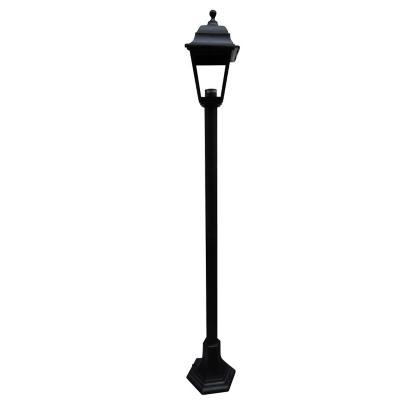 Farol pedestal 122 cm 40w Negro