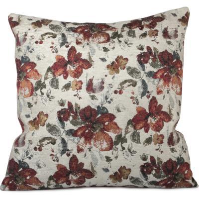 Cojín diseño turco de flores 45x45 cm Rojo