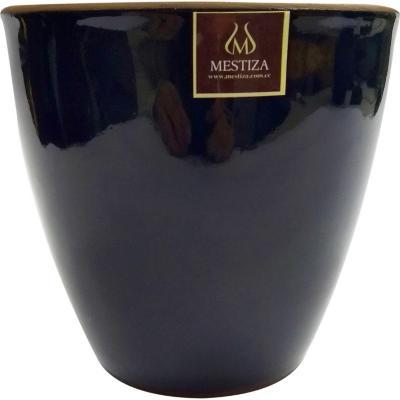 Maceta Zafiro 17x16 cm negro