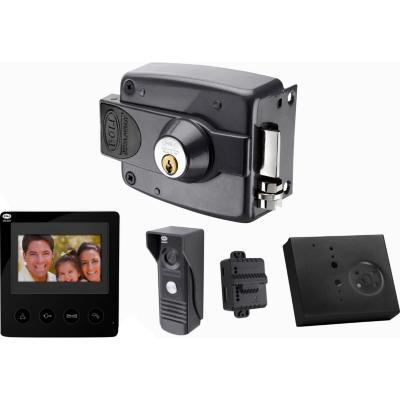 Kit video portero 4,3+intercomunicaodr+ cerradura eléctrica
