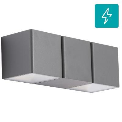 Aplique  Lutec led 4w 3000k gris ip44