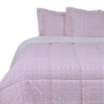 Plumón sherpa deco rosa King