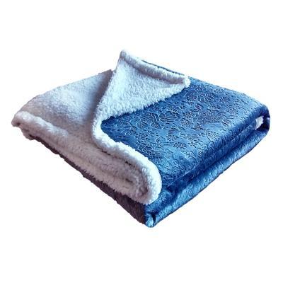 Frazada sherpa 1,5 plazas 3D azul