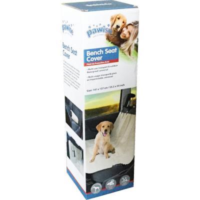 Funda protectora asiento de autos para mascotas tela impermeable beige