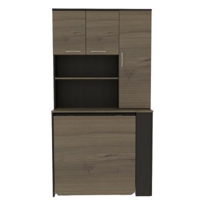 Mueble de cocina 90x35,6x170 cm wengue