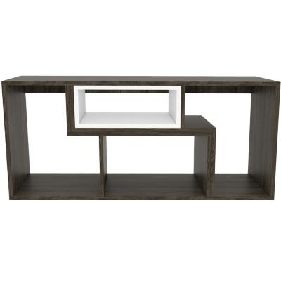 "Rack de TV 40 "" 160x35,3x54,5 Coñac/blanco"
