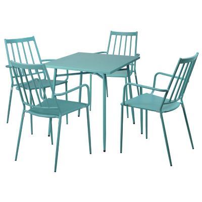 Juego comedor terraza Scanno 4 personas