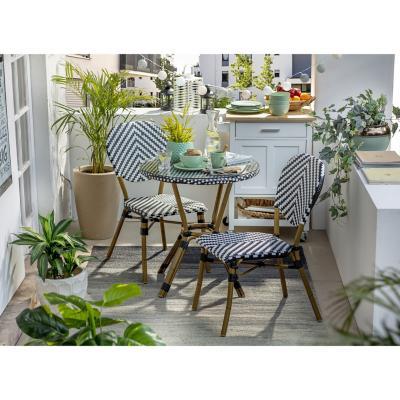 Juego balcon terraza look bamboo 3 piezas