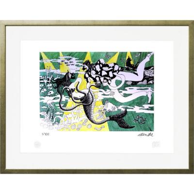 Cuadro 67x87 cm Sirena artista Fernando Allende