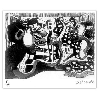 Grabado 35x50 cm Cita artista Fernando Allende