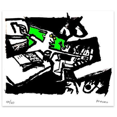Grabado 50x70 cm Profesor artista Bororo