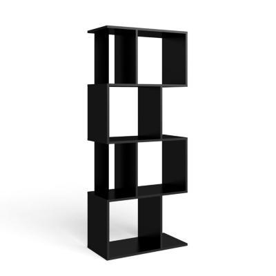 Estante negro 144x60x29 cm
