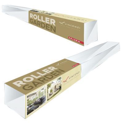 Cortina roller cierre de terraza beige 1.00x2.50
